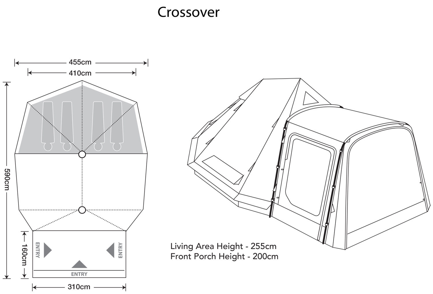 Outdoor Revolution Crossover 4 Berth Tent