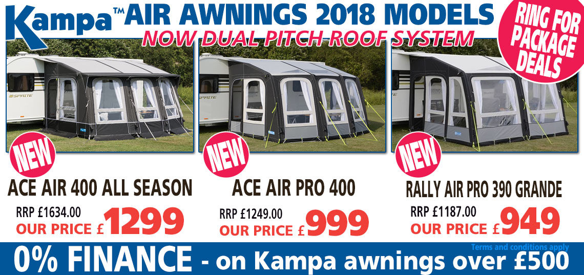 Kampa Air Awnings - dual pitch roof system