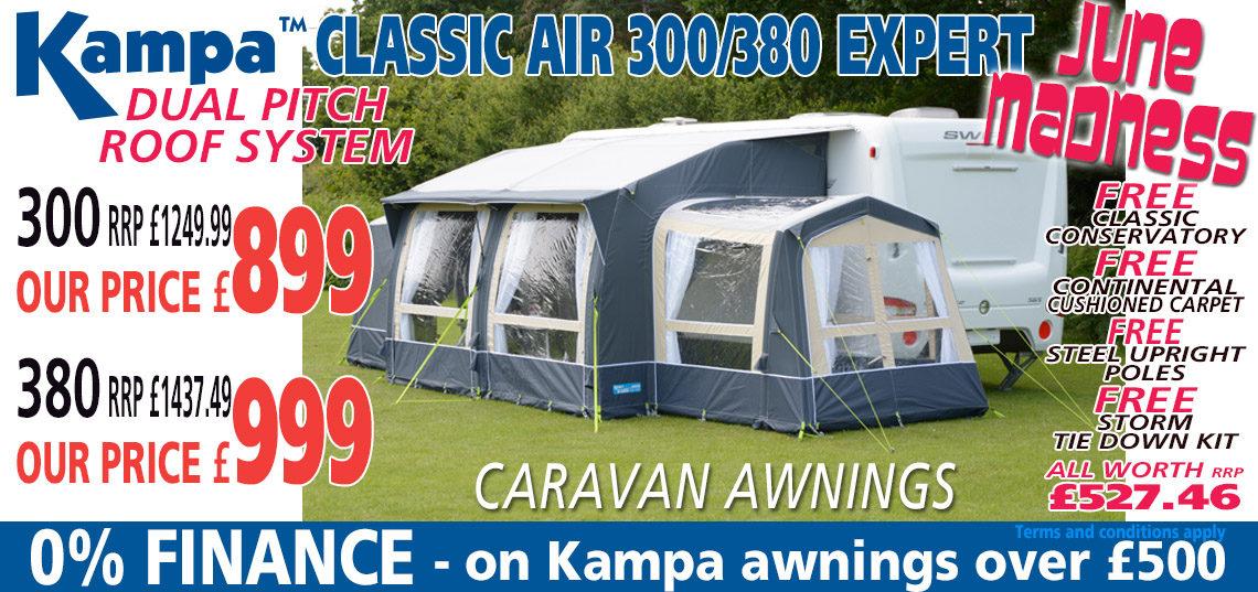 Kampa Classic Air Expert June Madness Banner