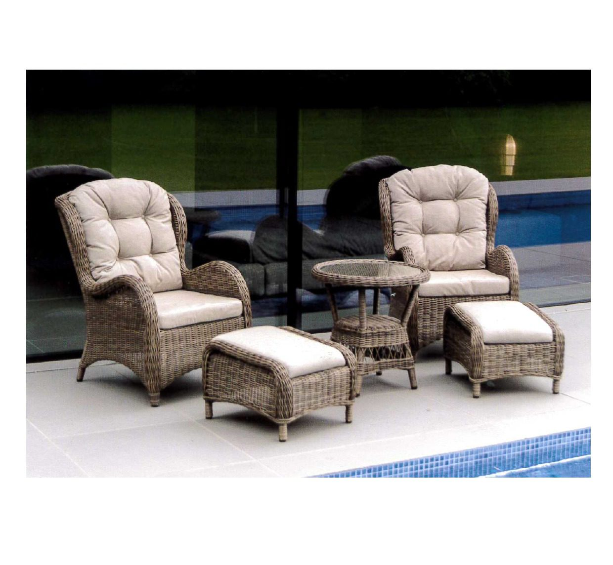 Alexander Rose Pecan Weave Colonial Set