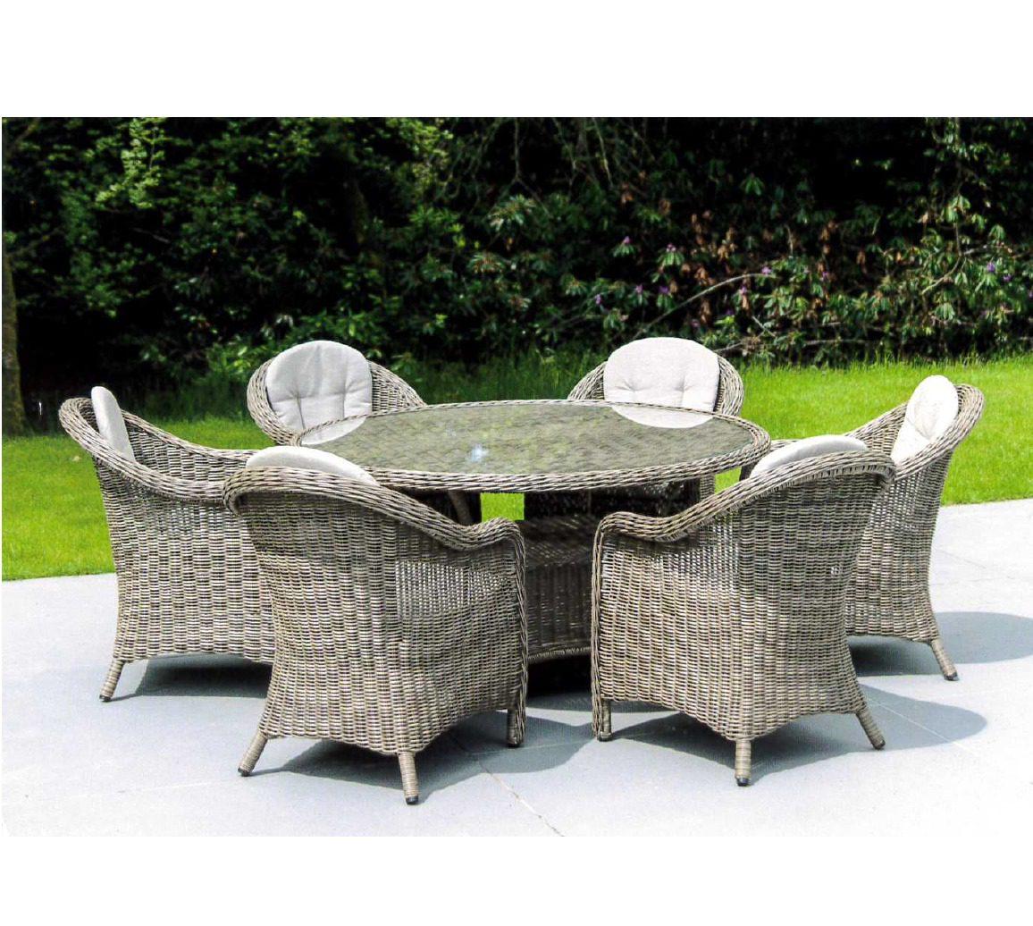 Alexander Rose Pecan Weave 6 Seater Set