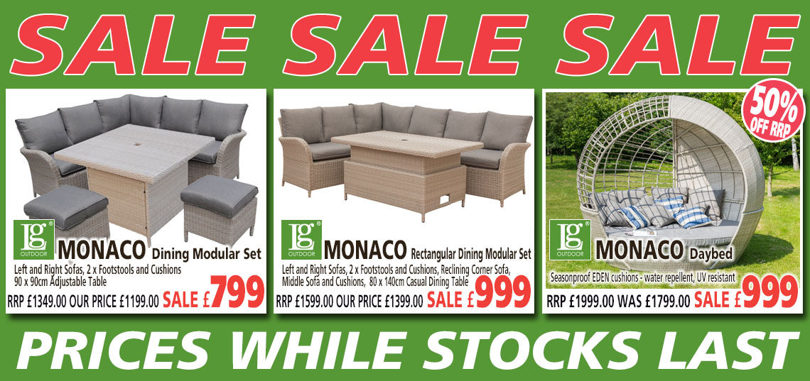 Leisuregrow Monaco Furniture Sale Banner