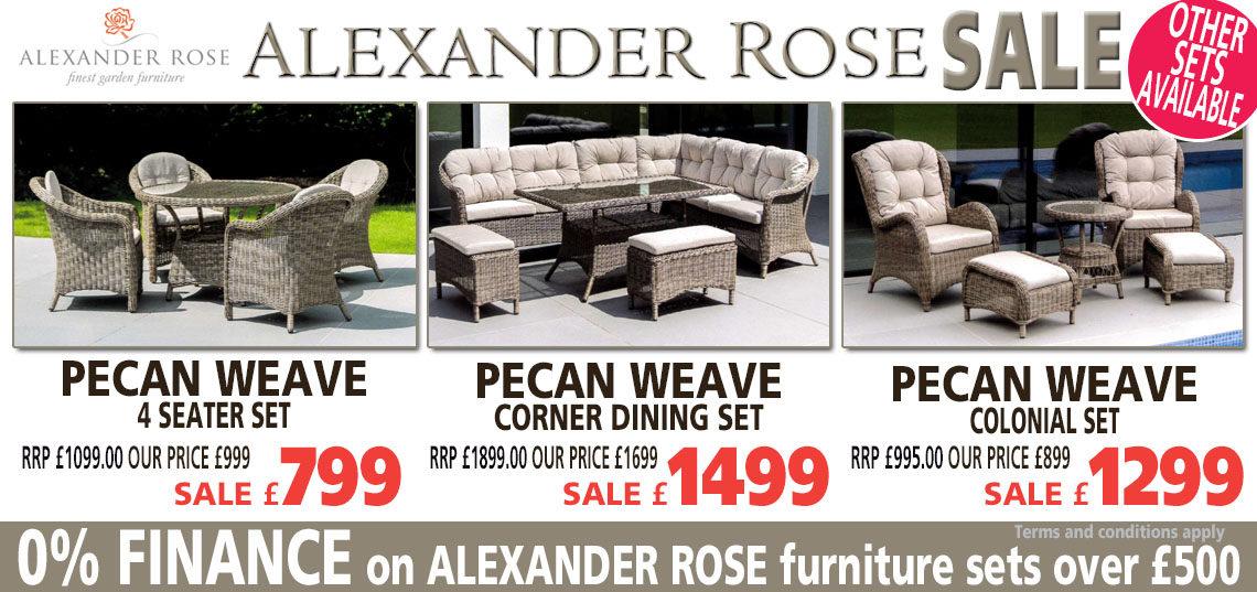Alexander Rose Pecan Range Sale Banner