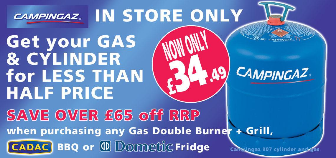 Campingaz 907 gas deal banner