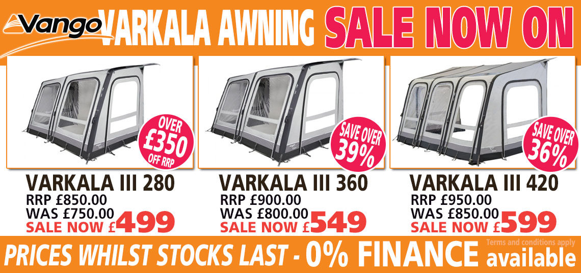 Vango Varkala Awning sale banner