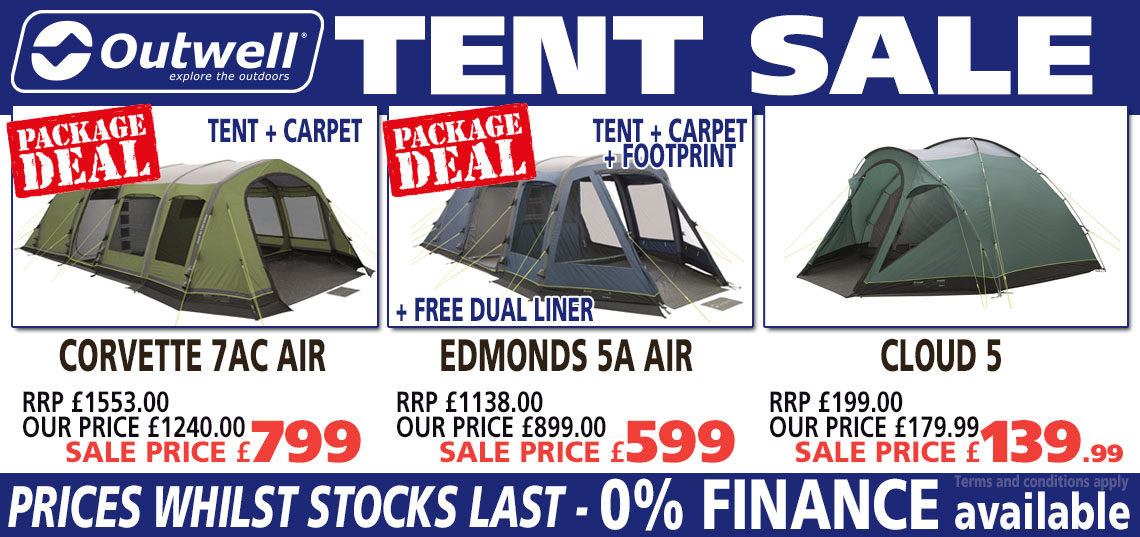 Outwell tent sale banner