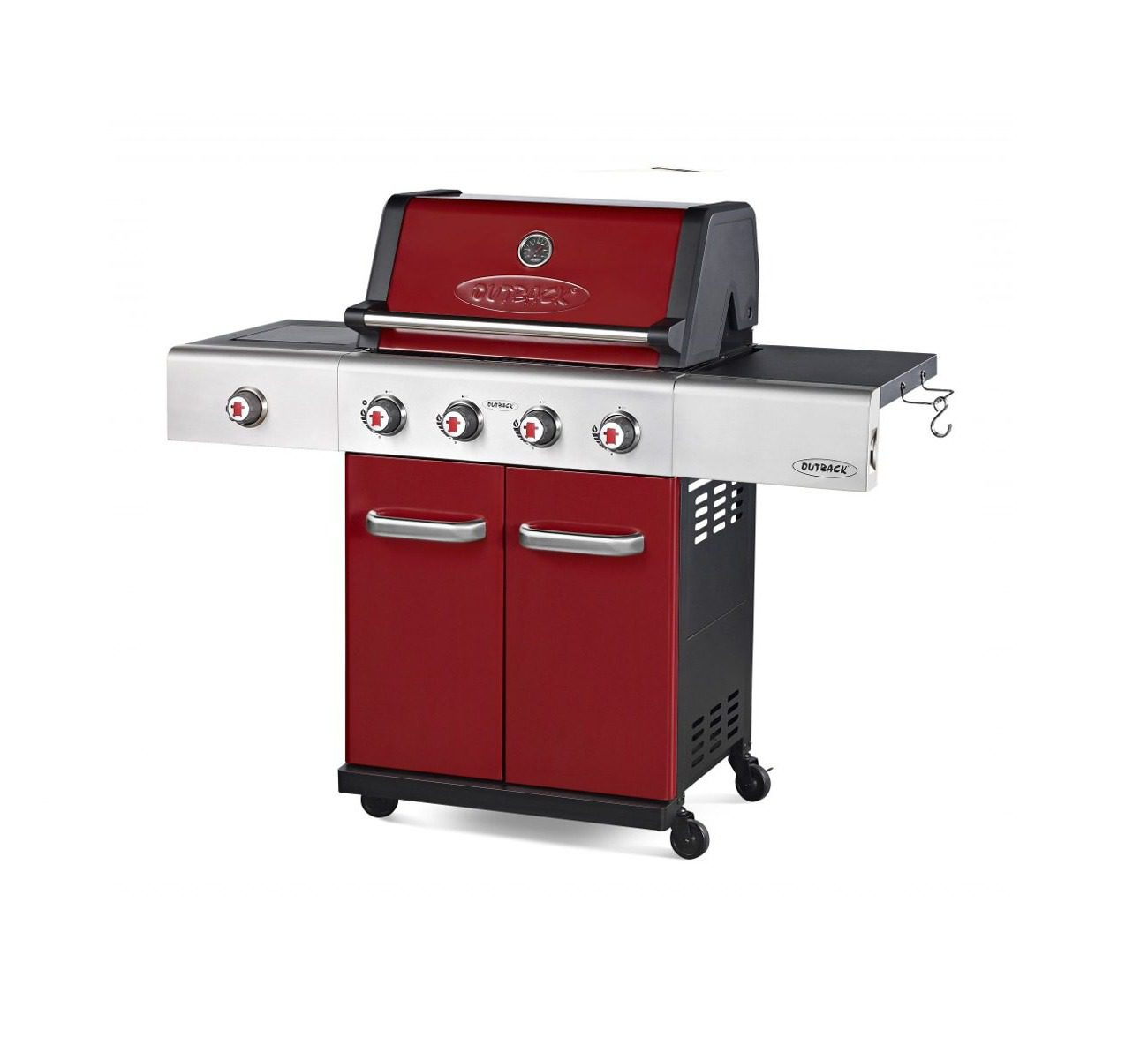 Outback Jupiter 4 Burner Barbecue Red
