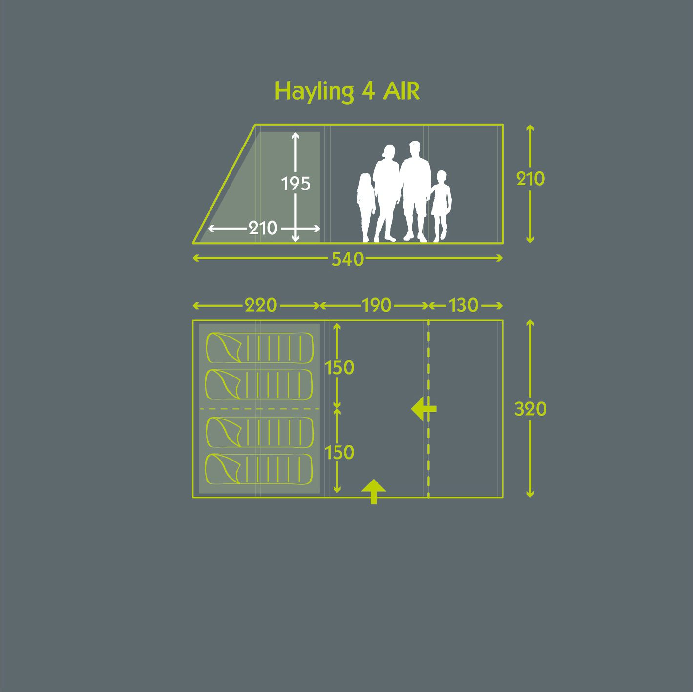 Tent Floor Plan Hayling 4 Air Norwichcamping