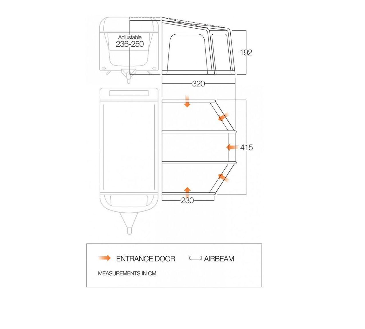 Vango Florence 420 awning floorplan