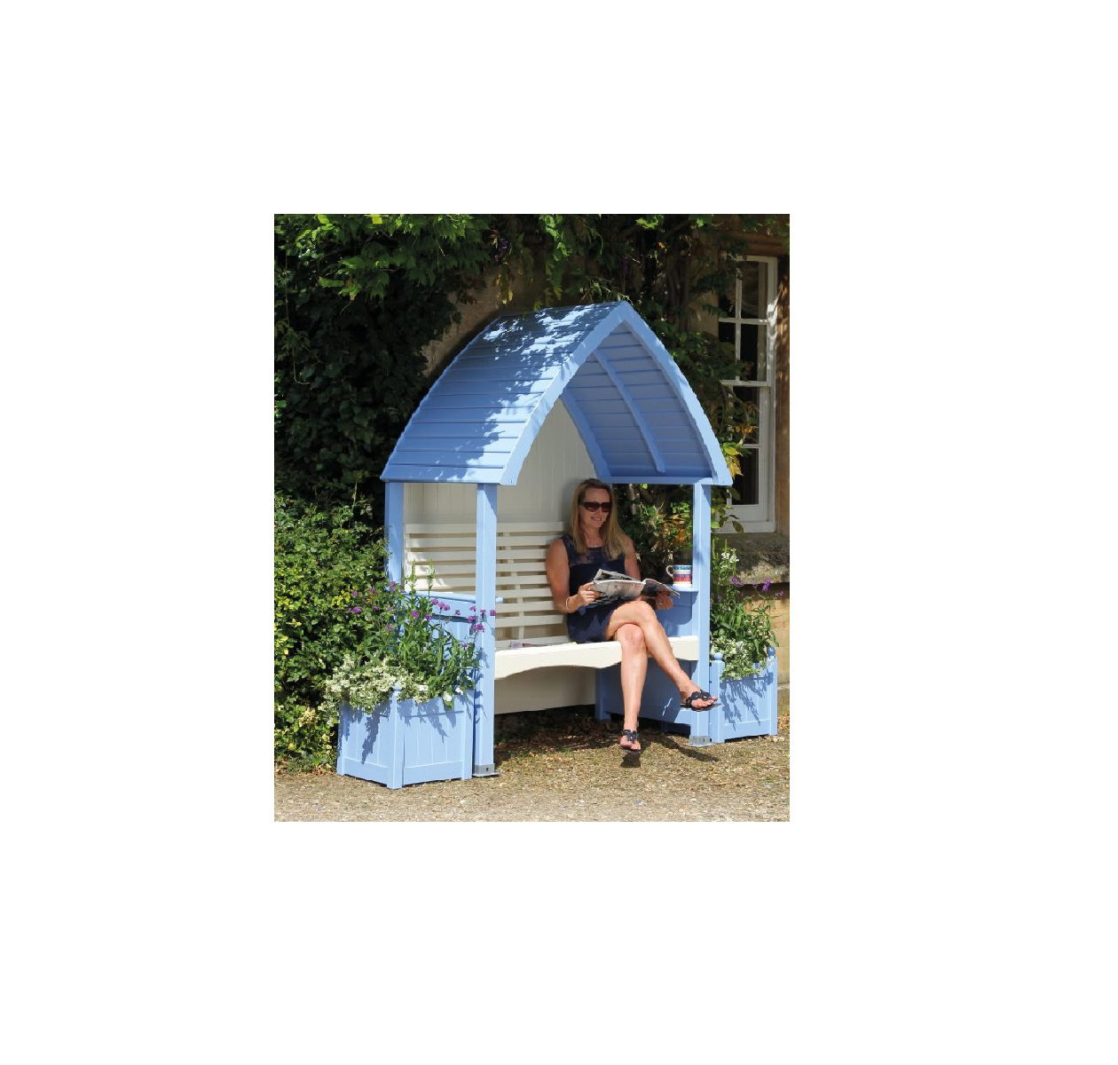 Afk Cottage Arbour Cornflower And Cream