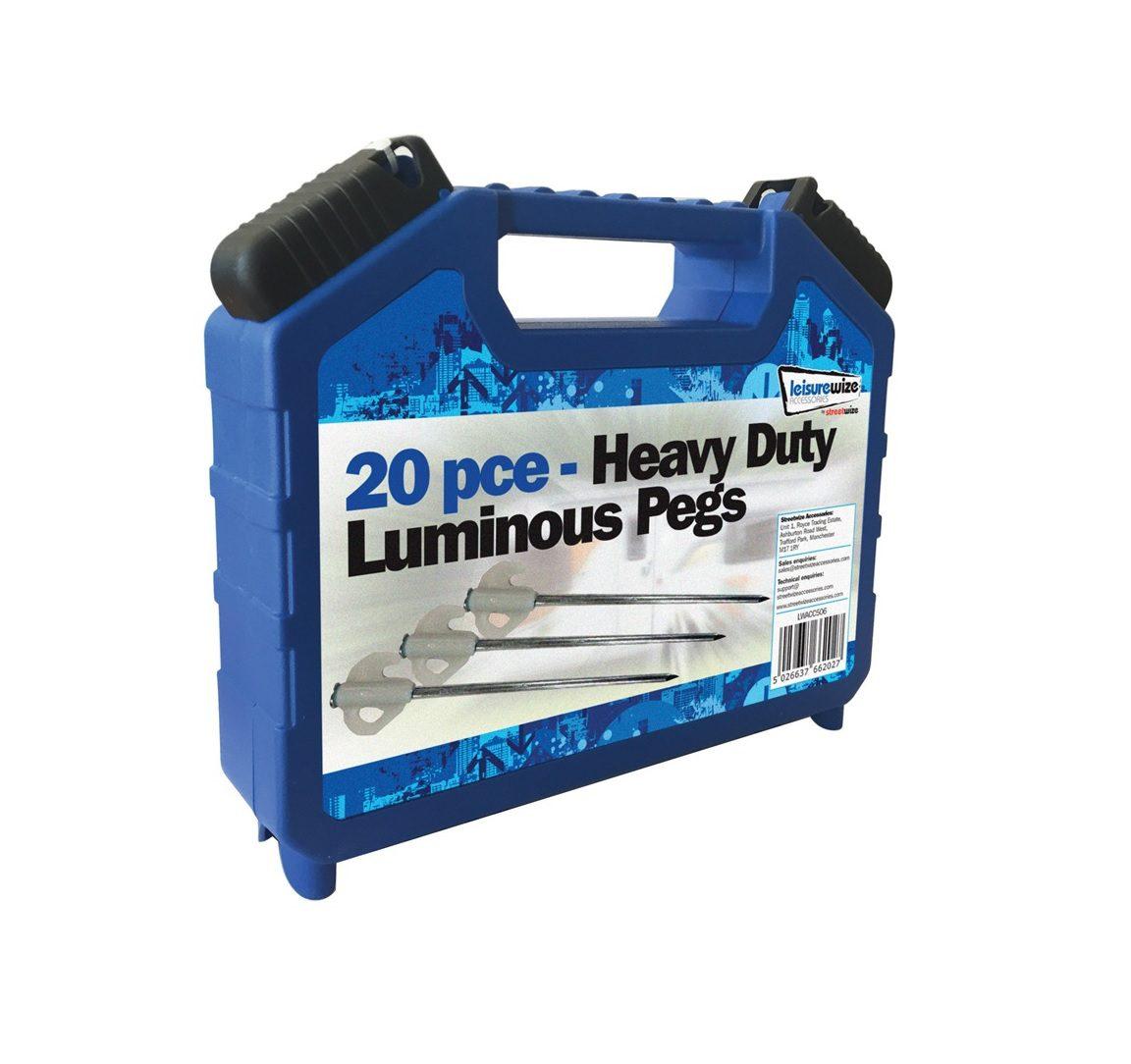 esiurewize 20 Piece Heavy Duty Luminous Pegs
