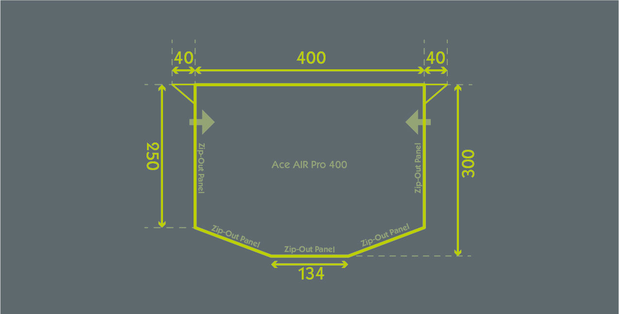 Ace Air Pro 400 Floor Plan
