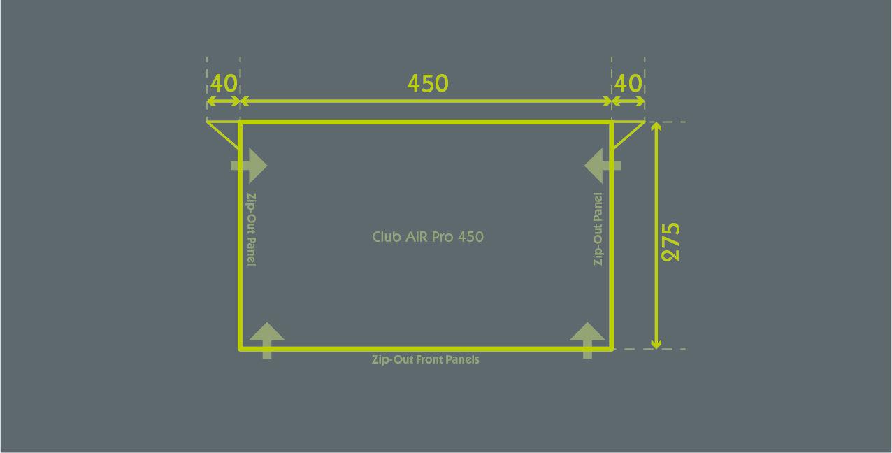 Club Air Pro 450 Floor Plan