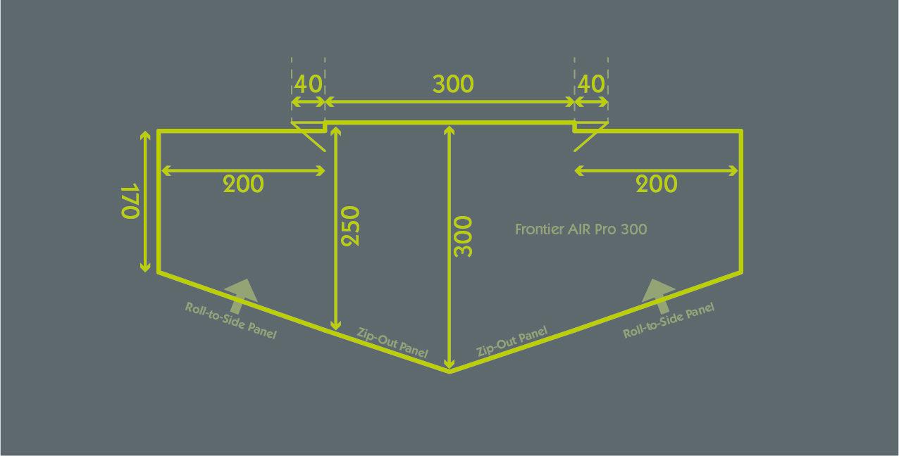 Frontier Air Pro 300 Floor Plan