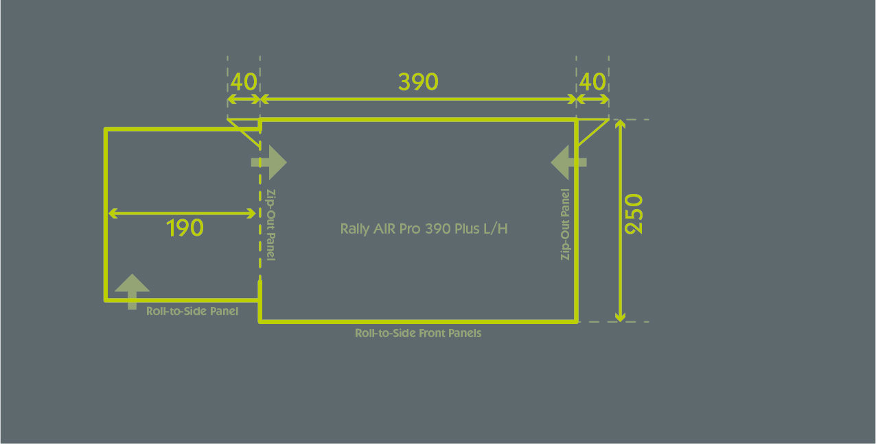 Rally Air Pro 390 Plus L H Floor Plan