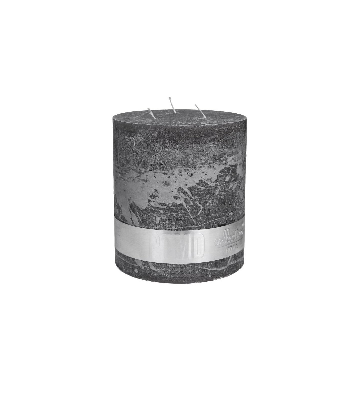 Rustic Swish Grey Block Candle 18X16
