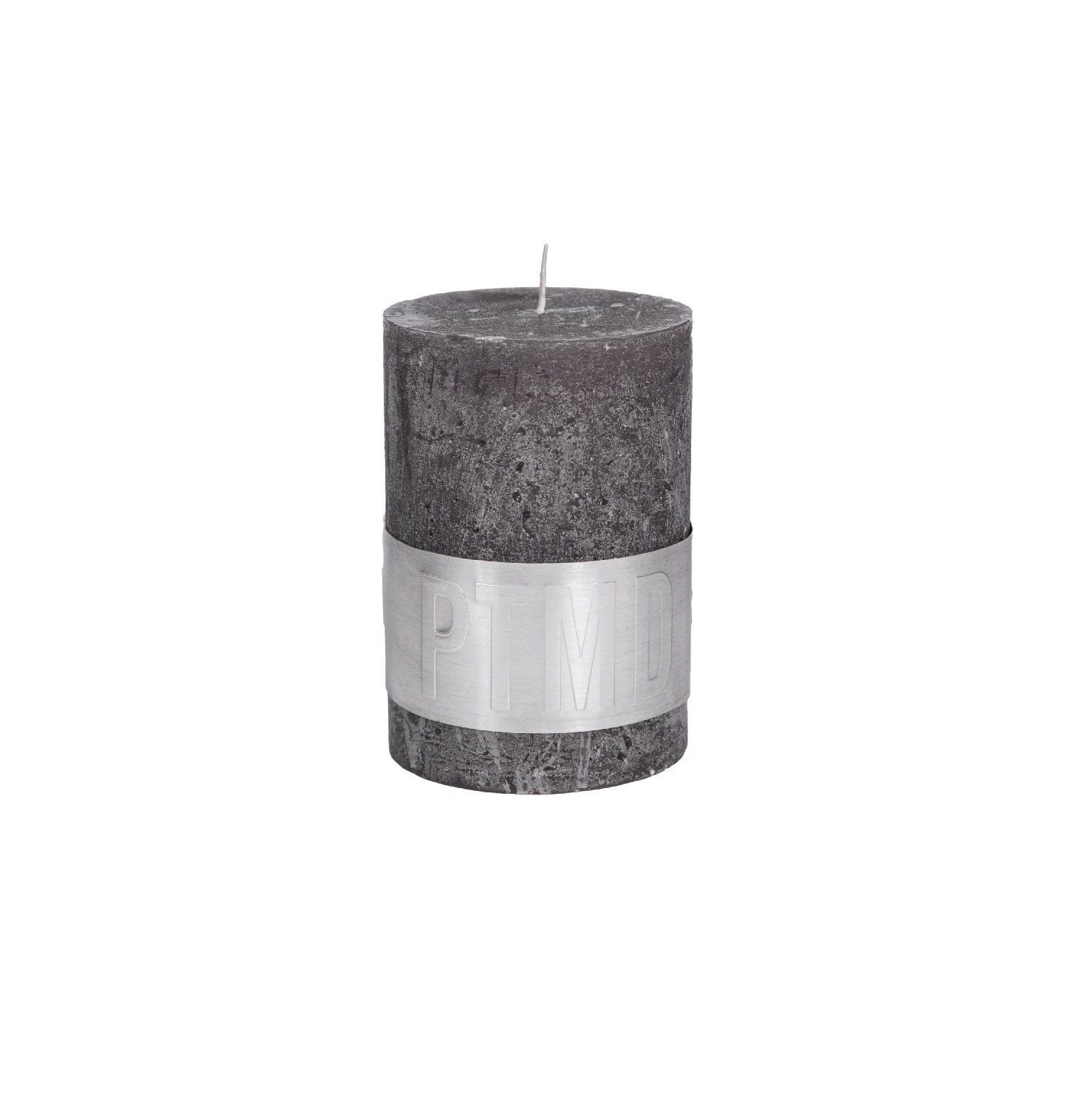 Rustic Swish Grey Pillar Candle 10X7