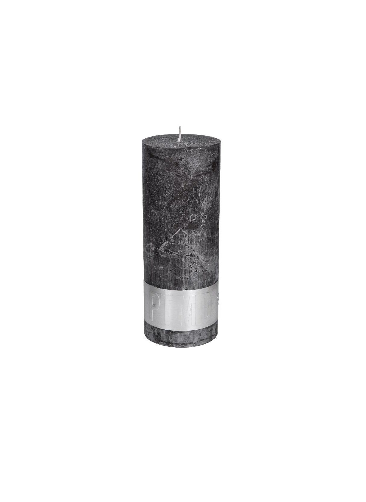 Rustic Swish Grey Pillar Candle 18X7