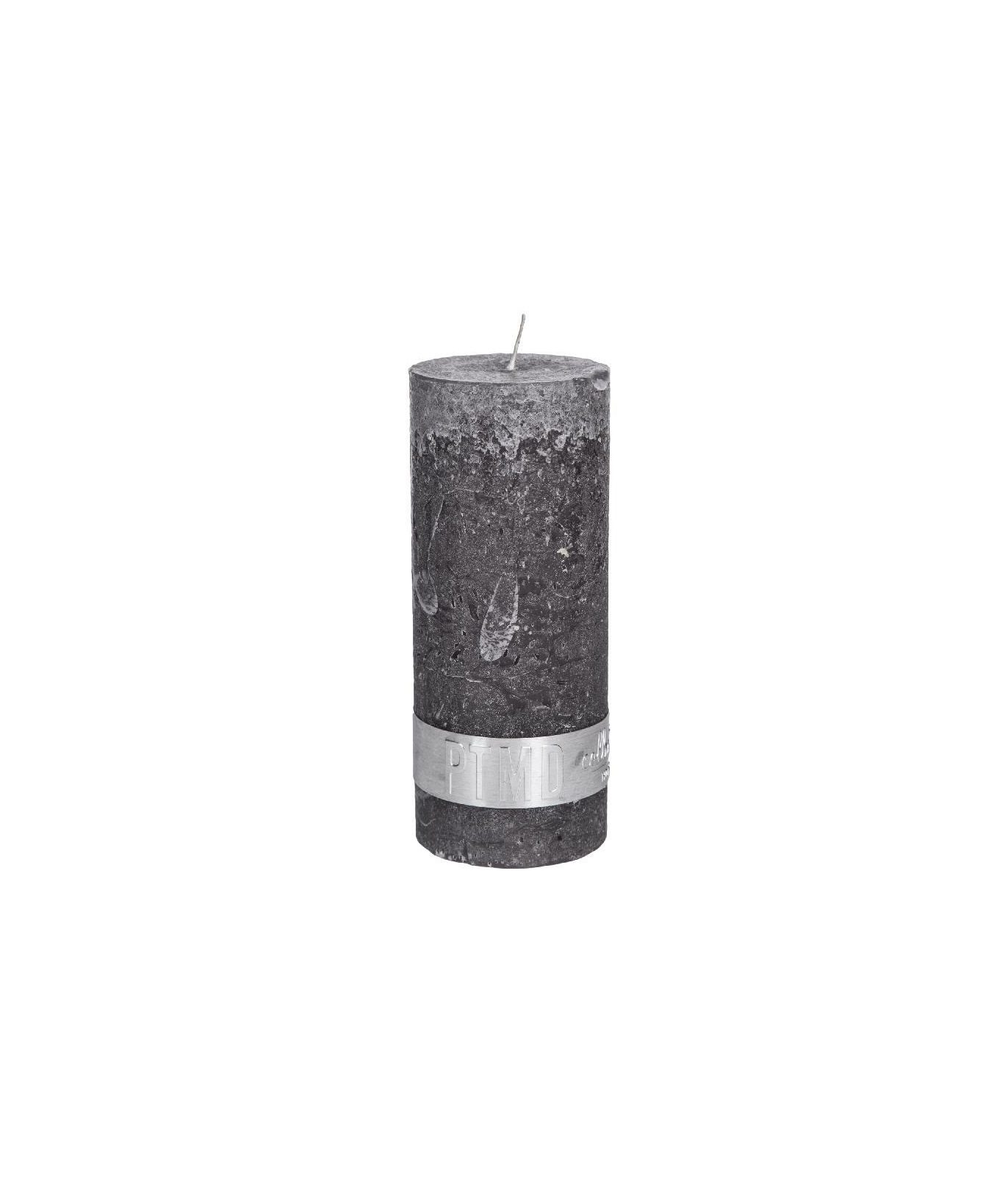 Rustic Swish Grey Pillar Candle 12X5