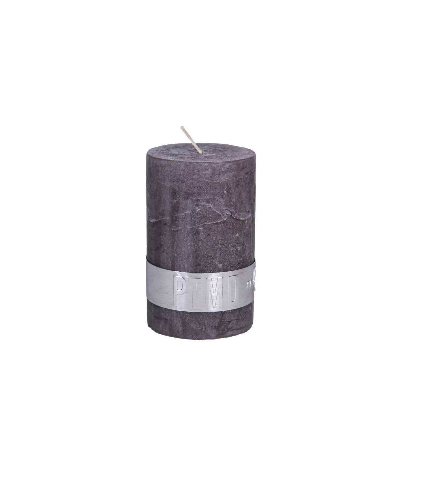 Rustic Swish Grey Pillar Candle 6X4