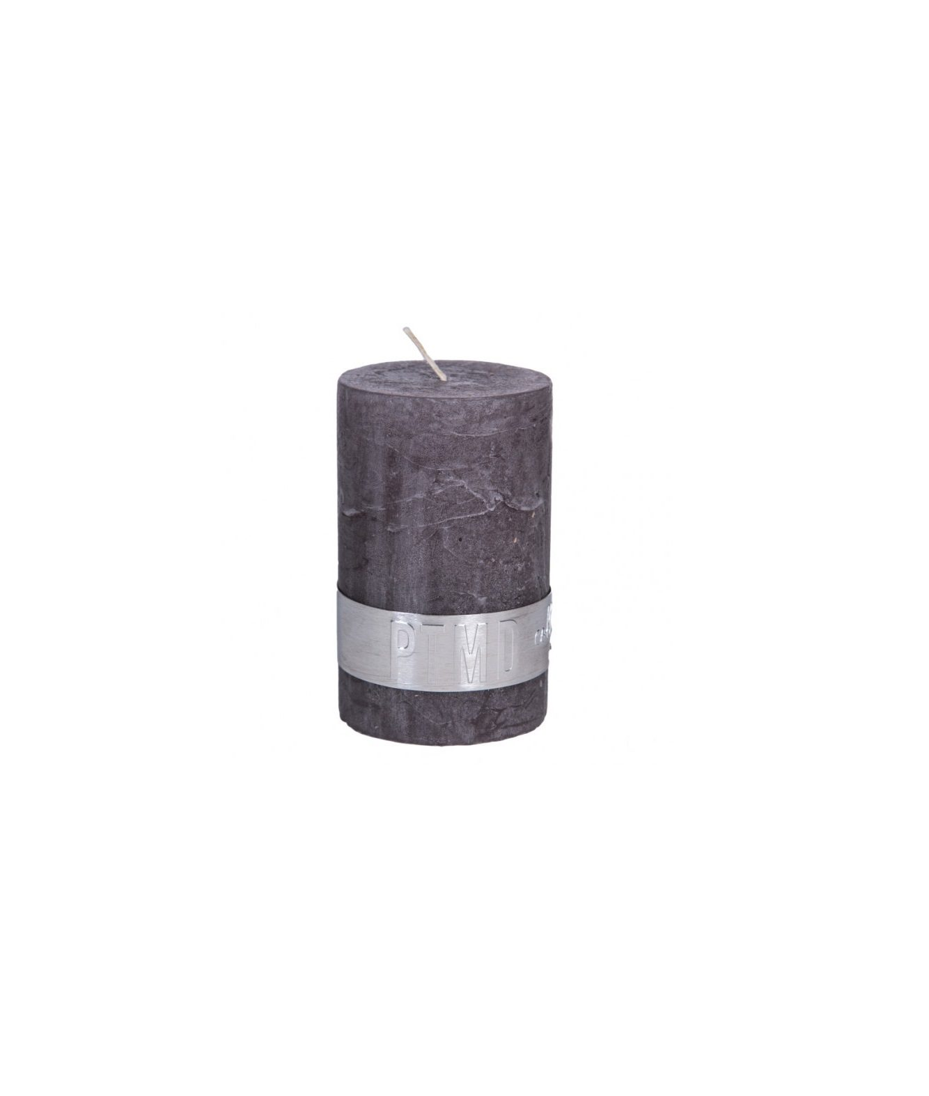 Rustic Swish Grey Pillar Candle 5 X 8 Cm Ptmd Collection 67A