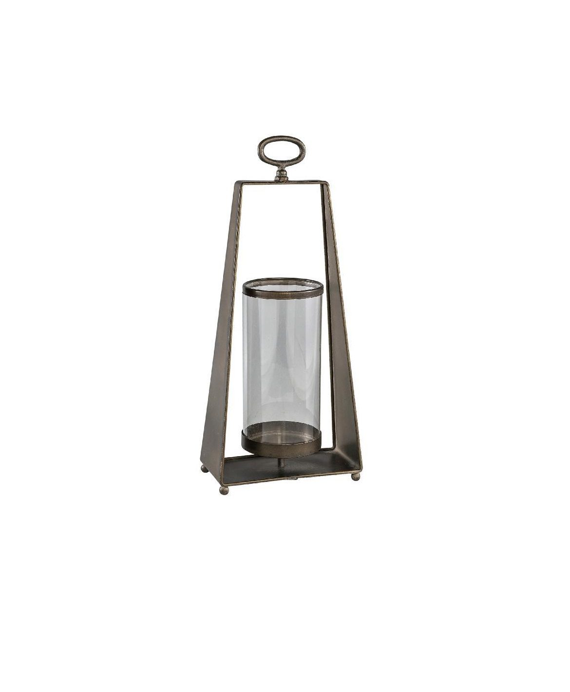 Trasher Metal Lantern With Glass Rectangle L