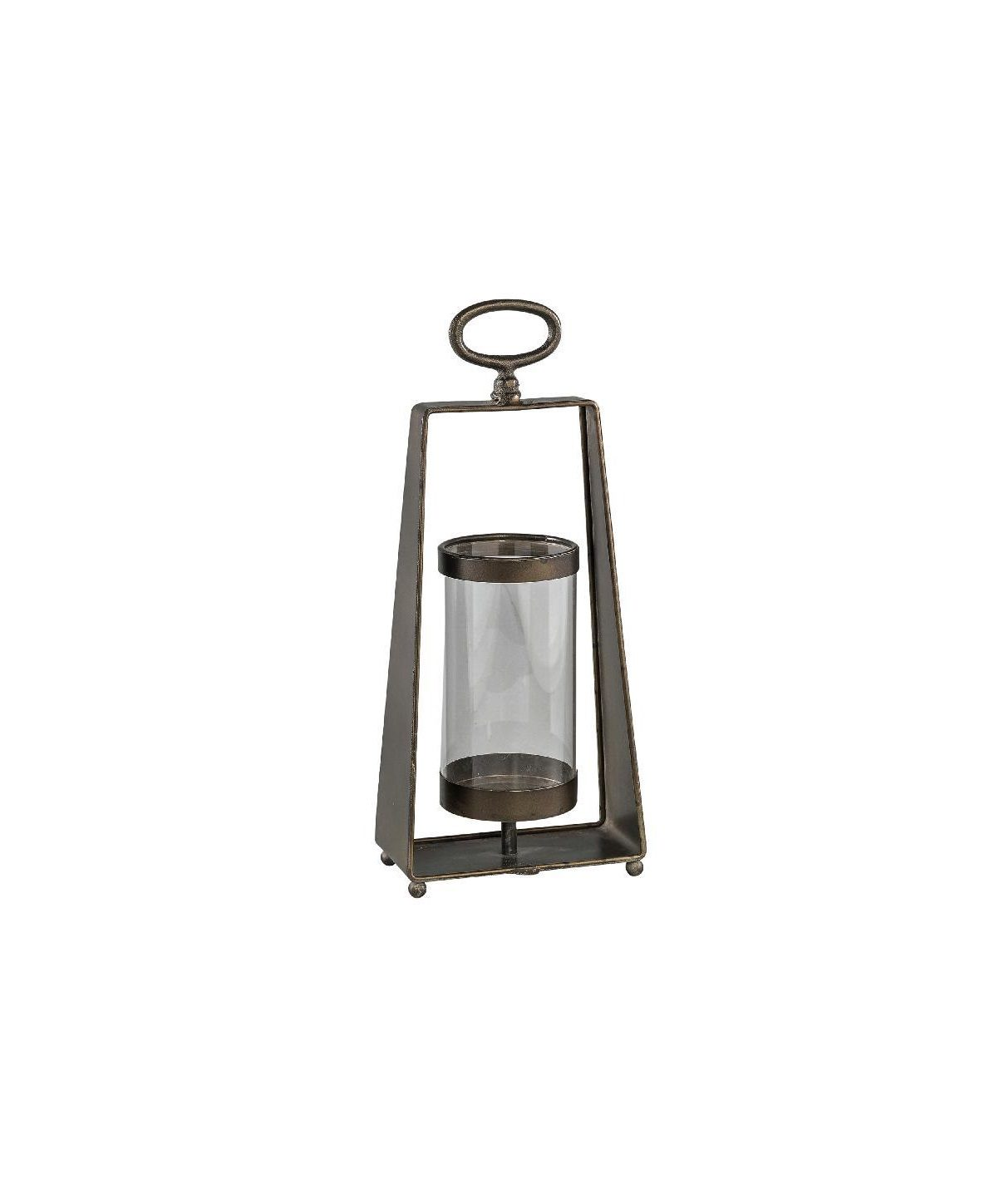 Trasher Metal Lantern With Glass Rectangle S