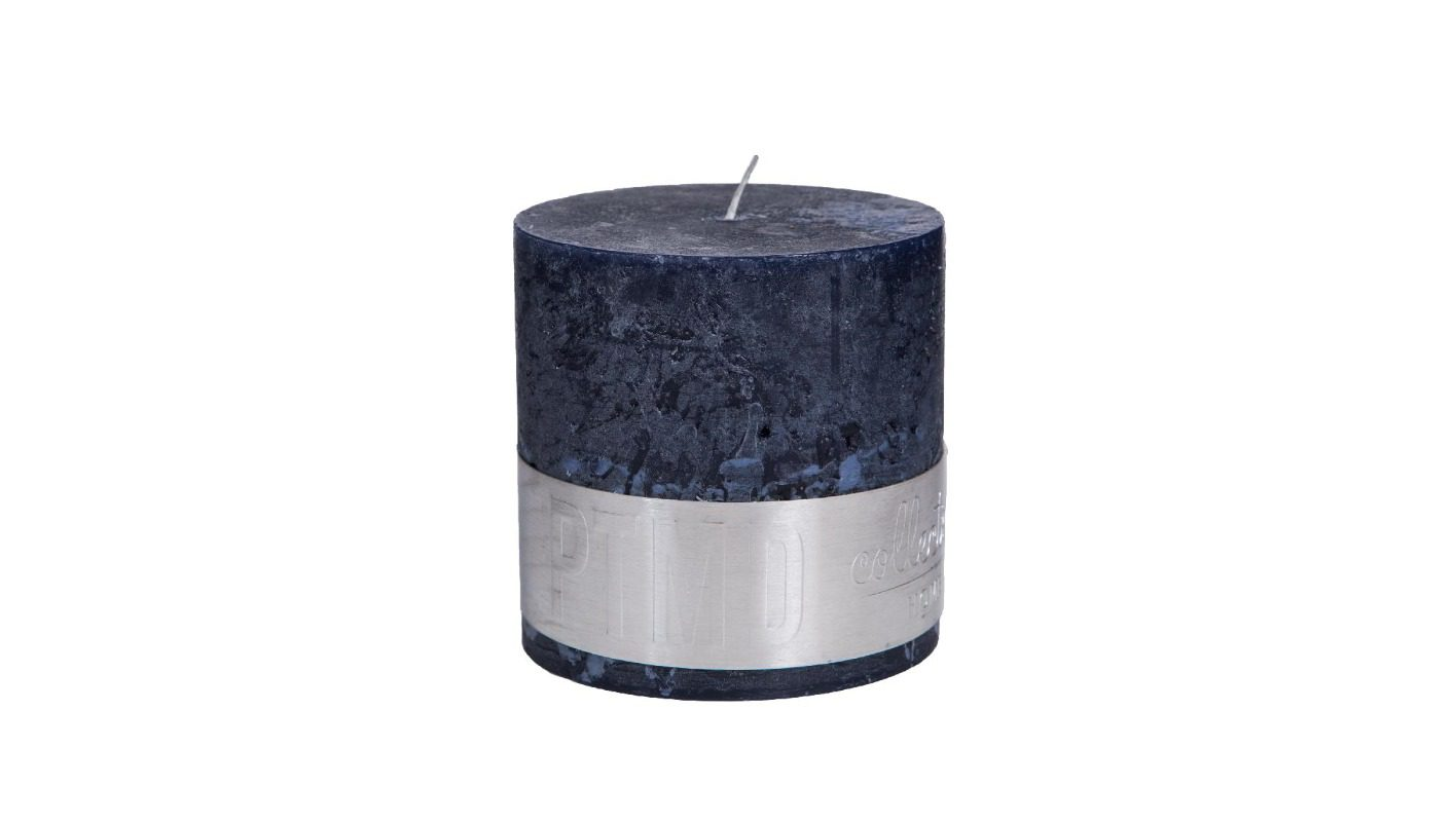 Rustic Night Blue Block Candle 10x10 + background
