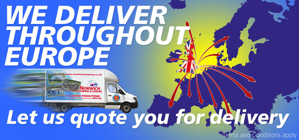 We deliver throughout Europe