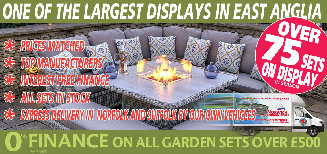 One of the largest displays of Garden Furniture