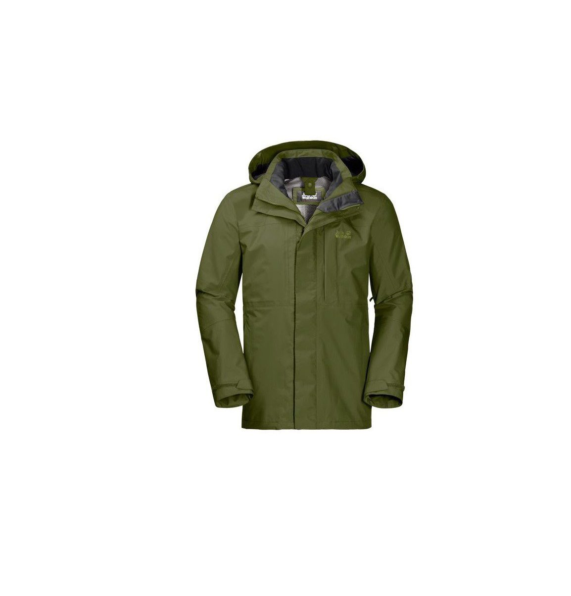 Jack Wolfskin Mens Echo Peak Flex Jacket Cypress Green
