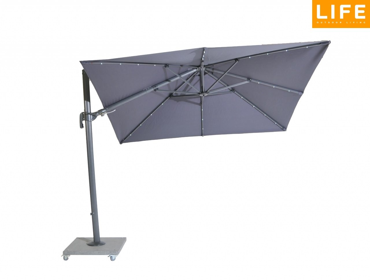 norfolk leisure palermo cantilever parasol 3x3m with leds norwich camping. Black Bedroom Furniture Sets. Home Design Ideas