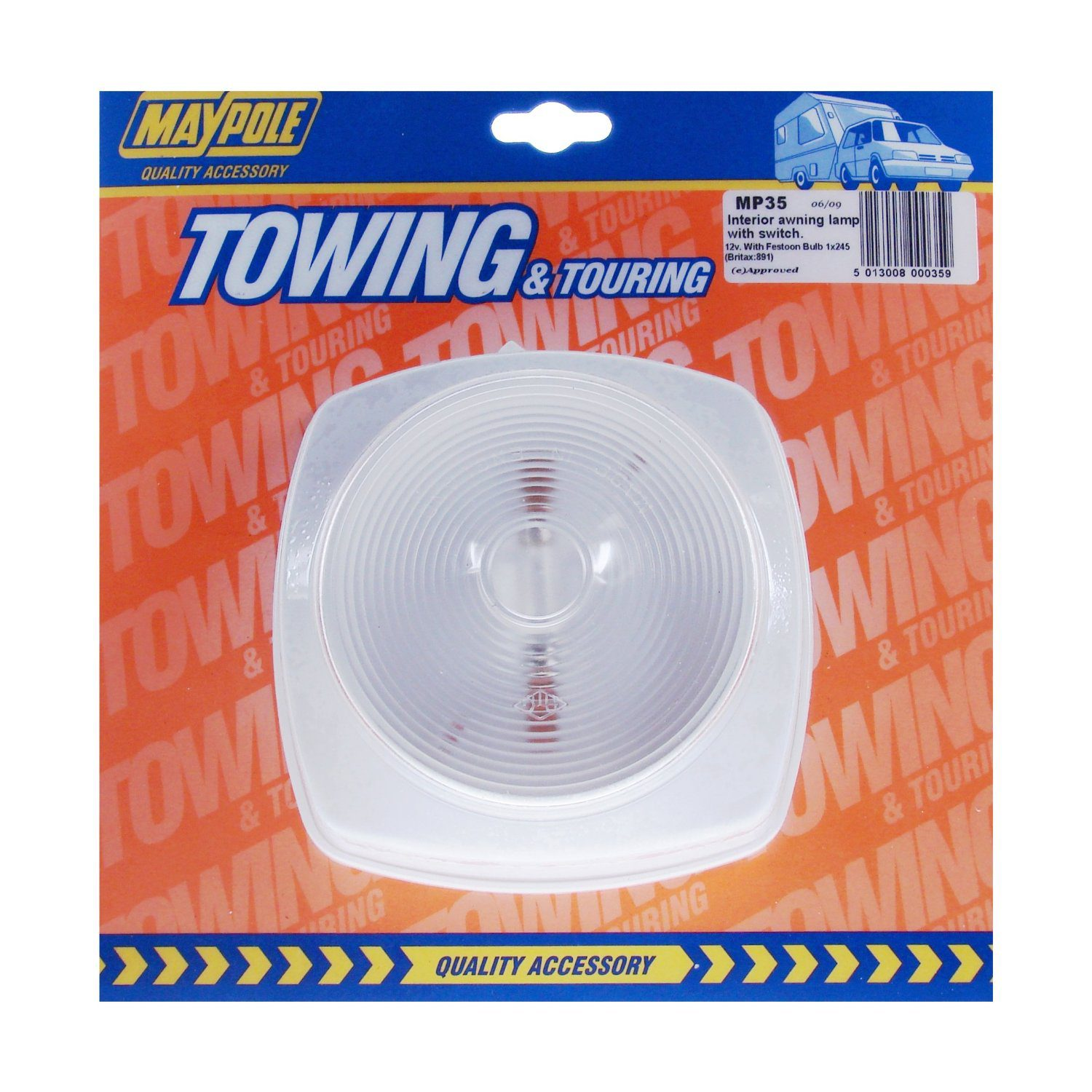 Maypole MP35 - Interior Awning Lamp with Switch