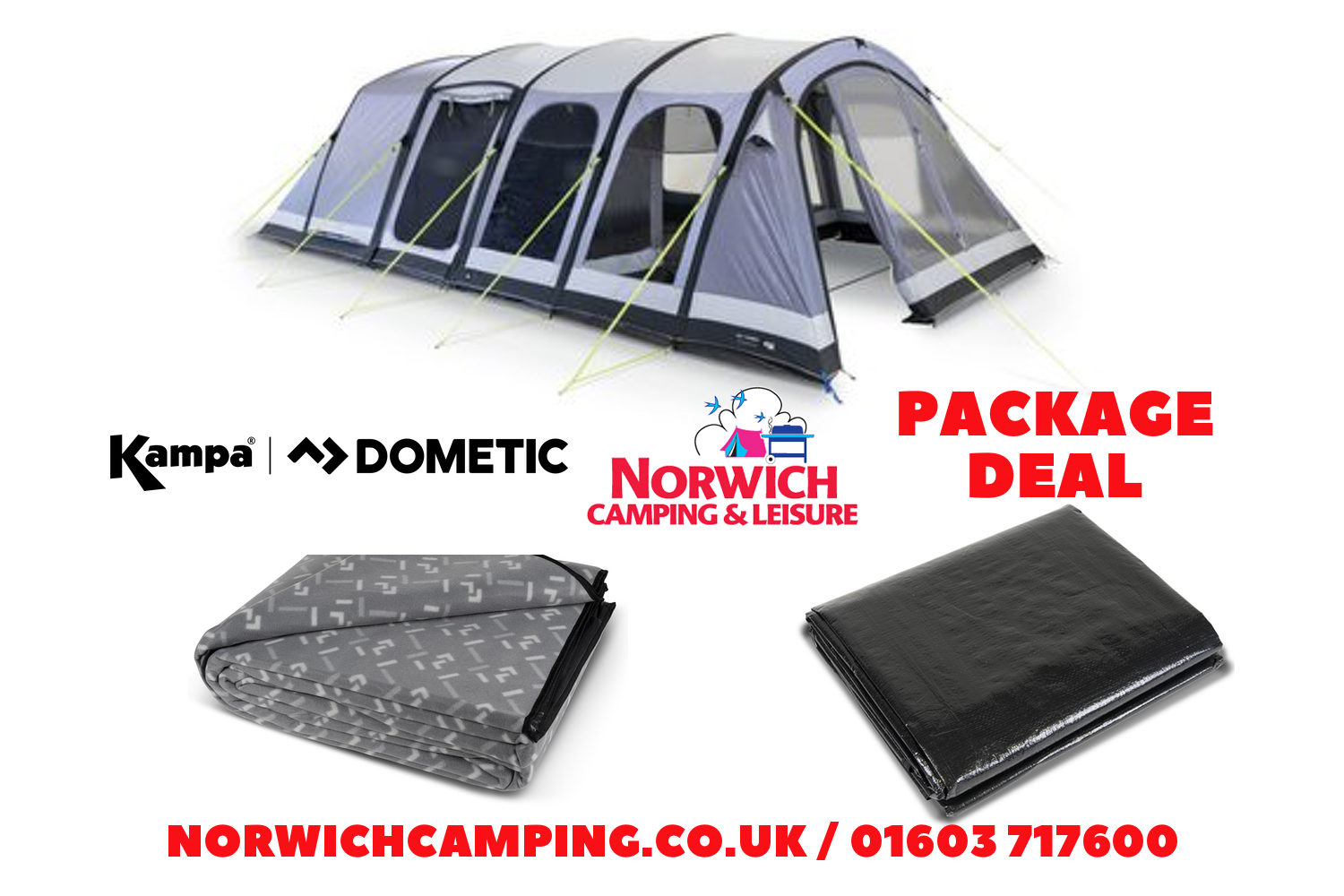 Kampa Studland 6 Air Package Deal