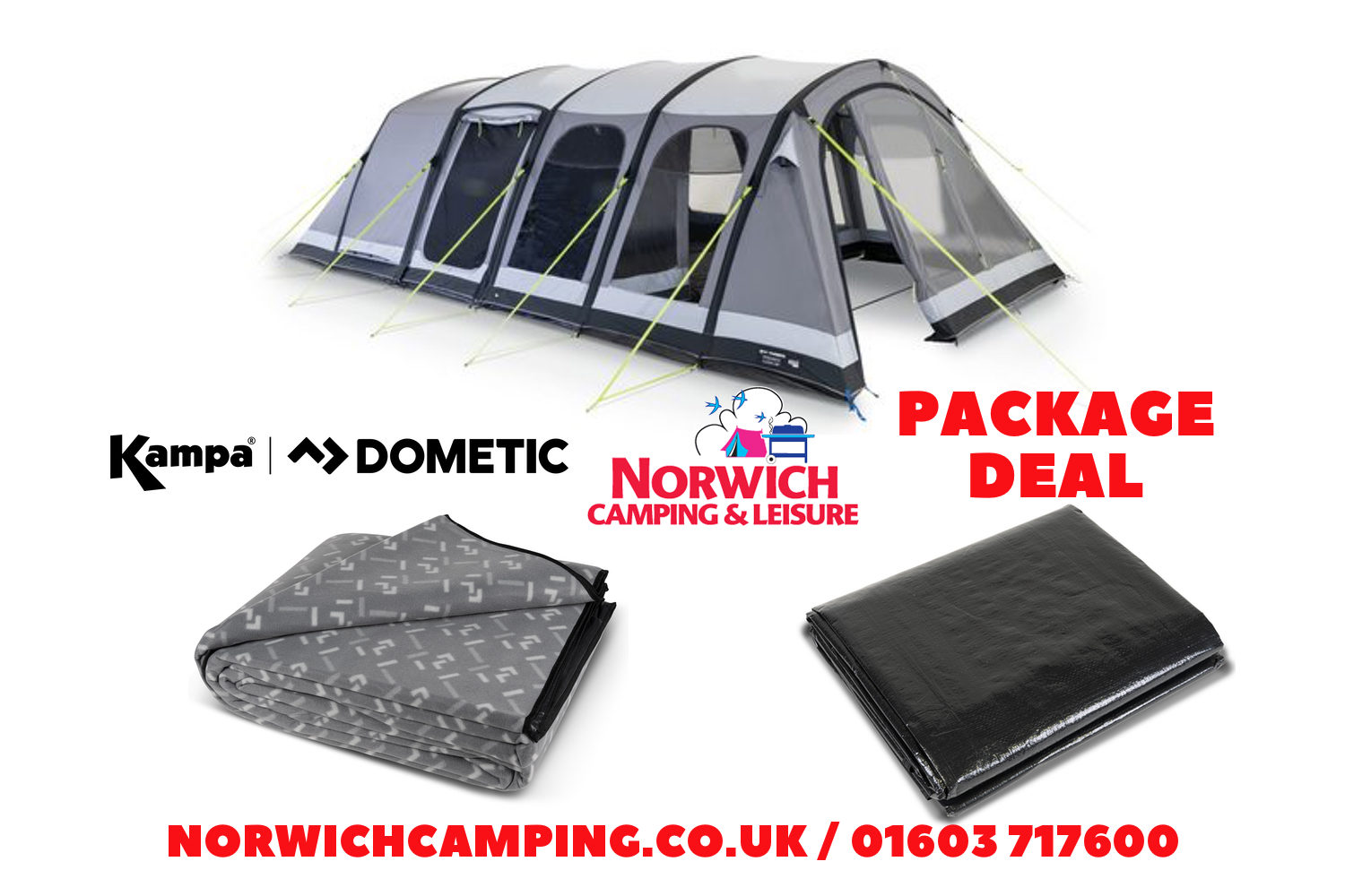 Kampa Studland 6 Classic Package Deal