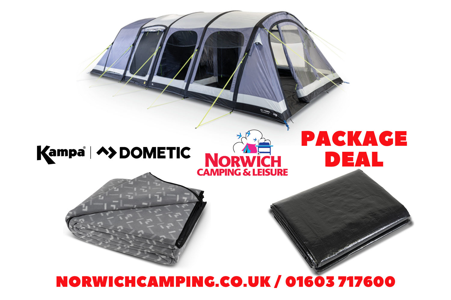 Kampa Studland 8 Air Package Deal