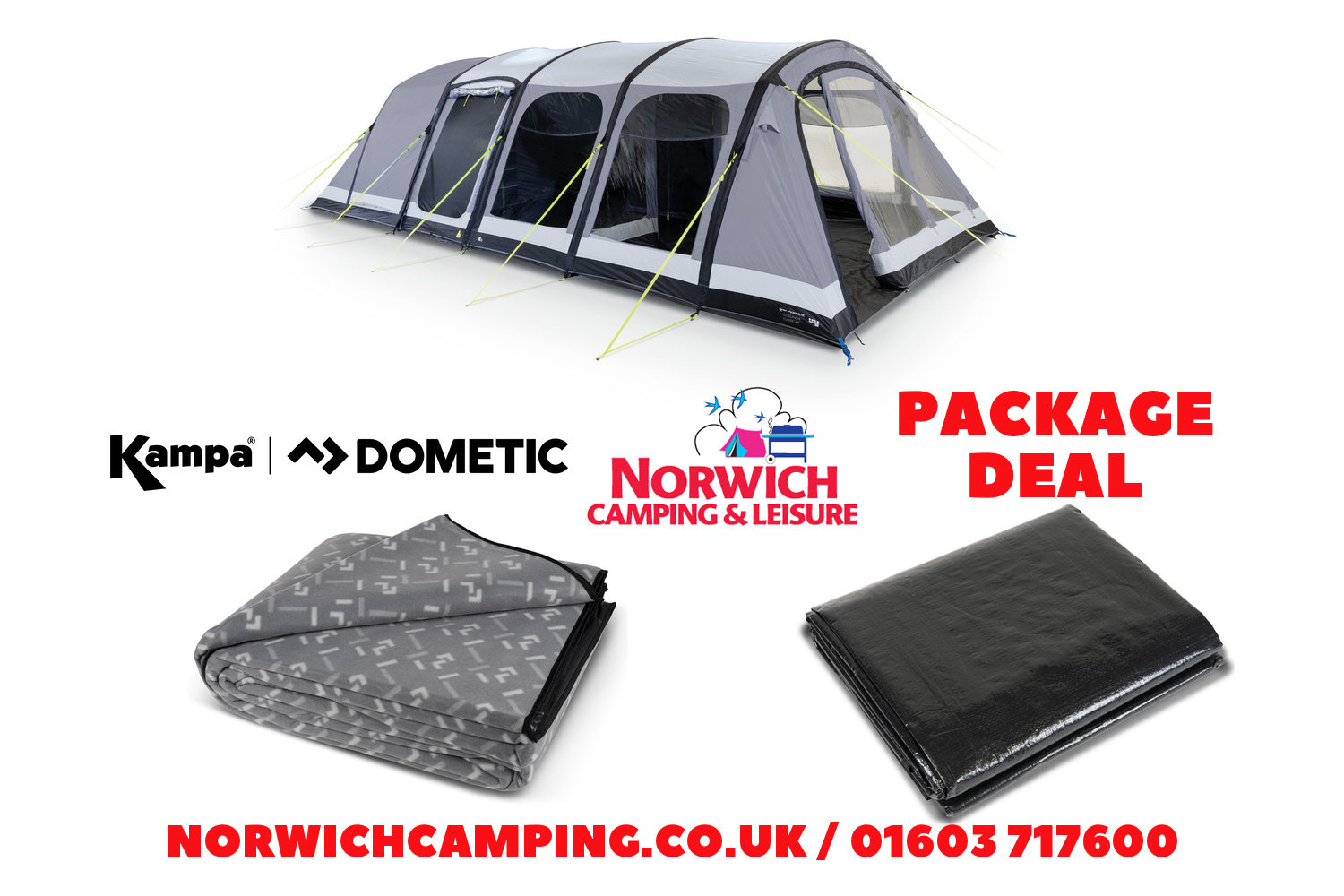 Kampa Studland 8 Classic Package Deal