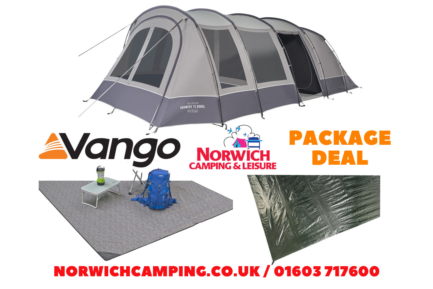 Vango Oakmere Tx 600Xl Package Deal