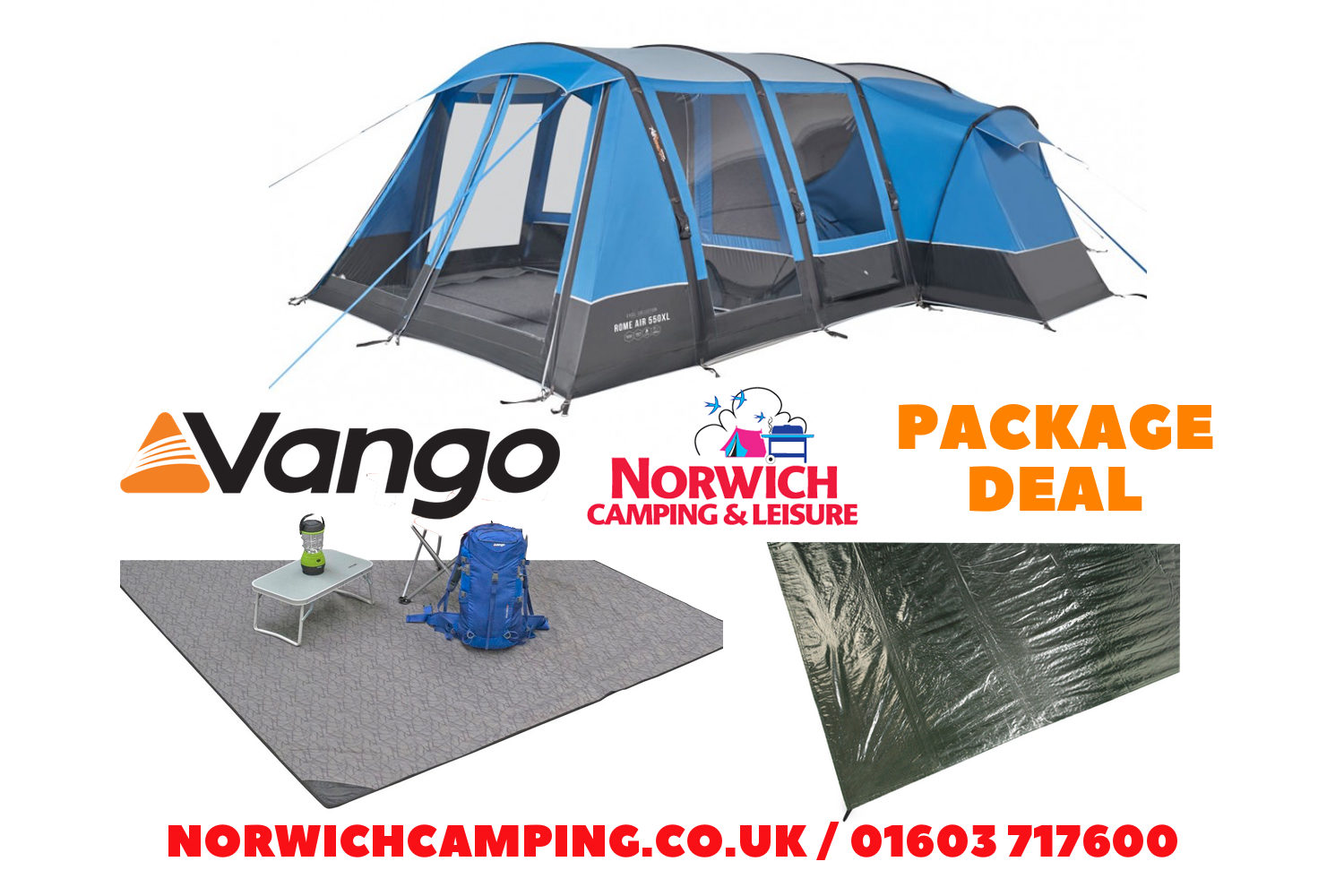 Vango Rome 550Xl Package Deal