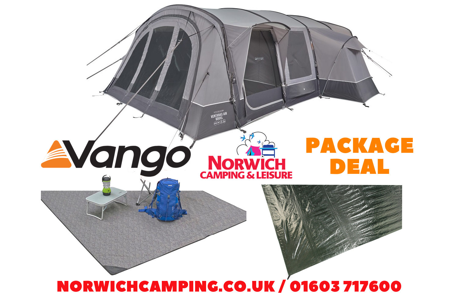 Vango Ventanas 650Xl Package Deal