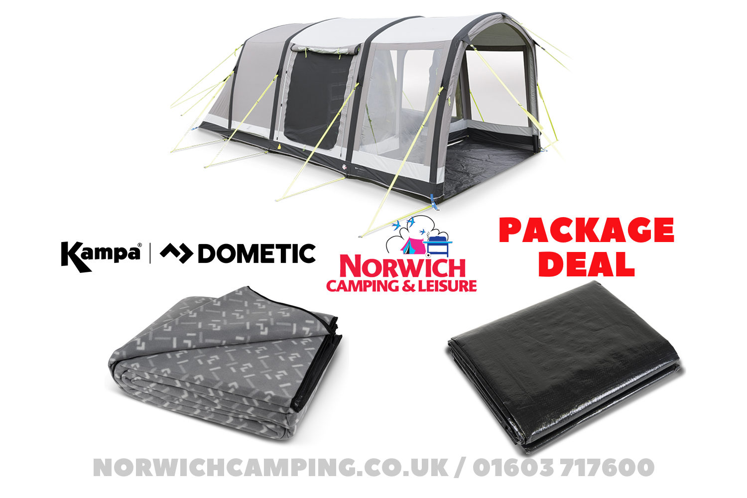 Kampa Dometic Hayling 4 Classic Package Deal
