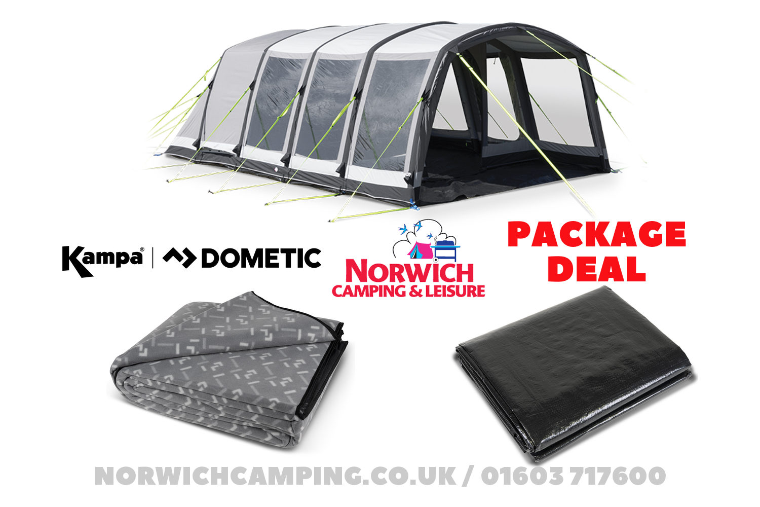 Kampa Dometic Hayling 6 Classic Air Package Deal