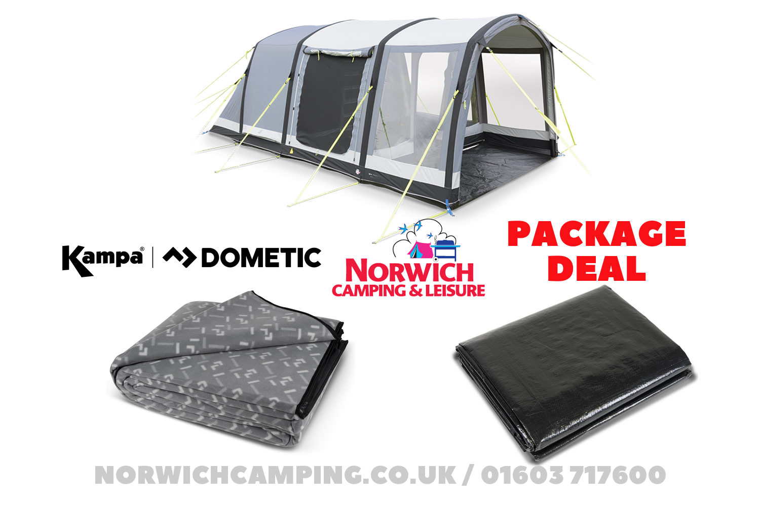 Kampa Dometic Hayling 4 Air Package Deal