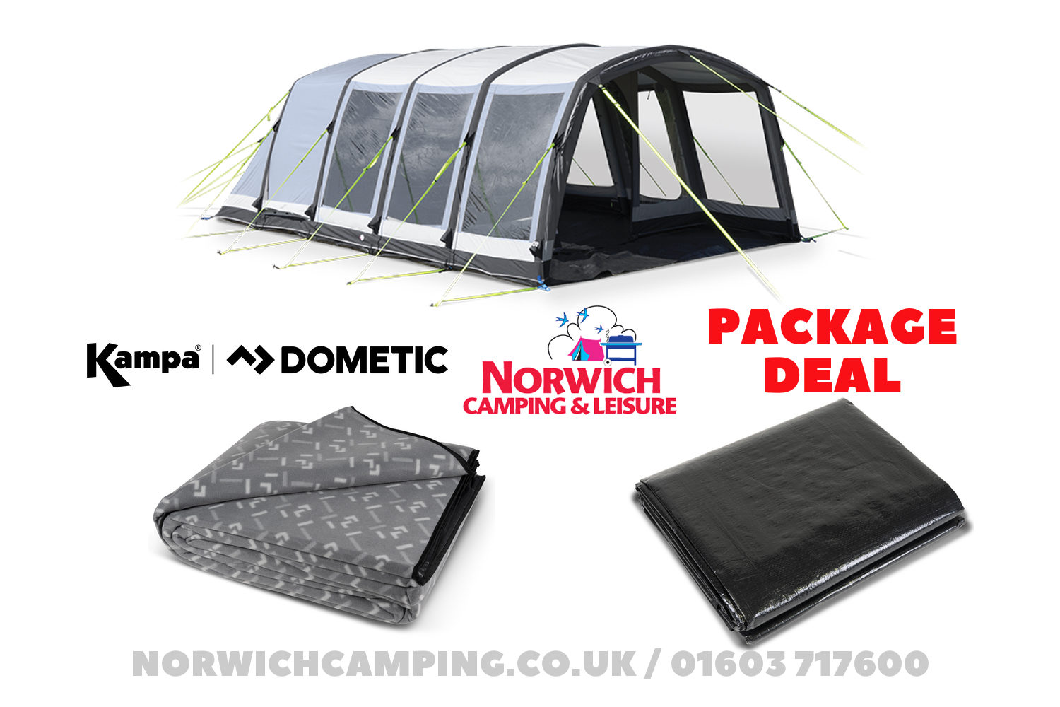 Kampa Dometic Hayling 6 Air Package Deal