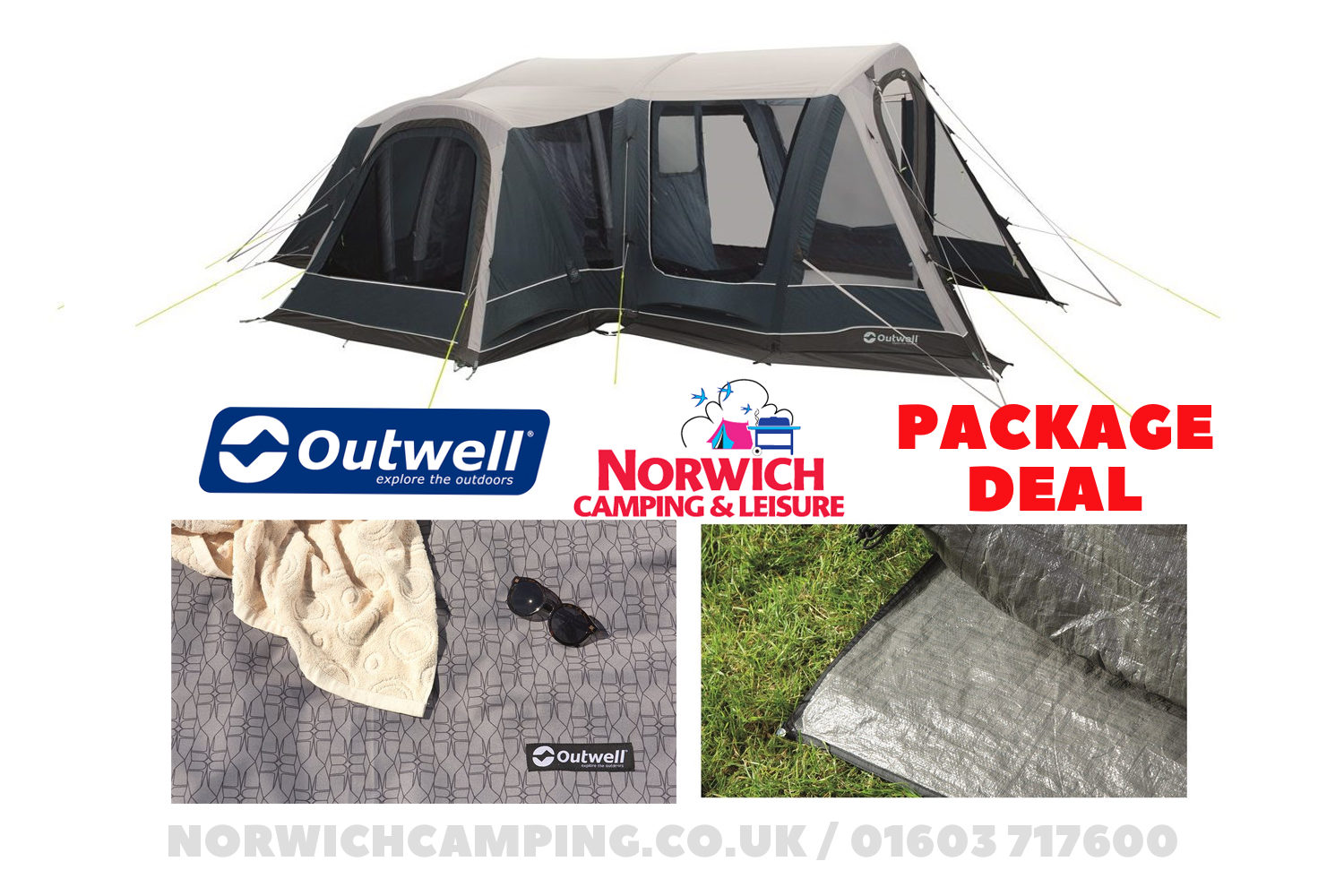 Outwell Airville 4Sa Tent Package Deal