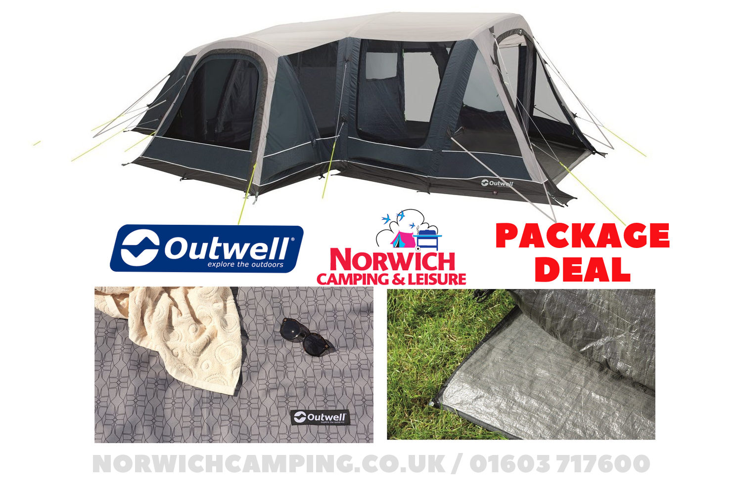 Outwell Airville 6Sa Tent Package Deal