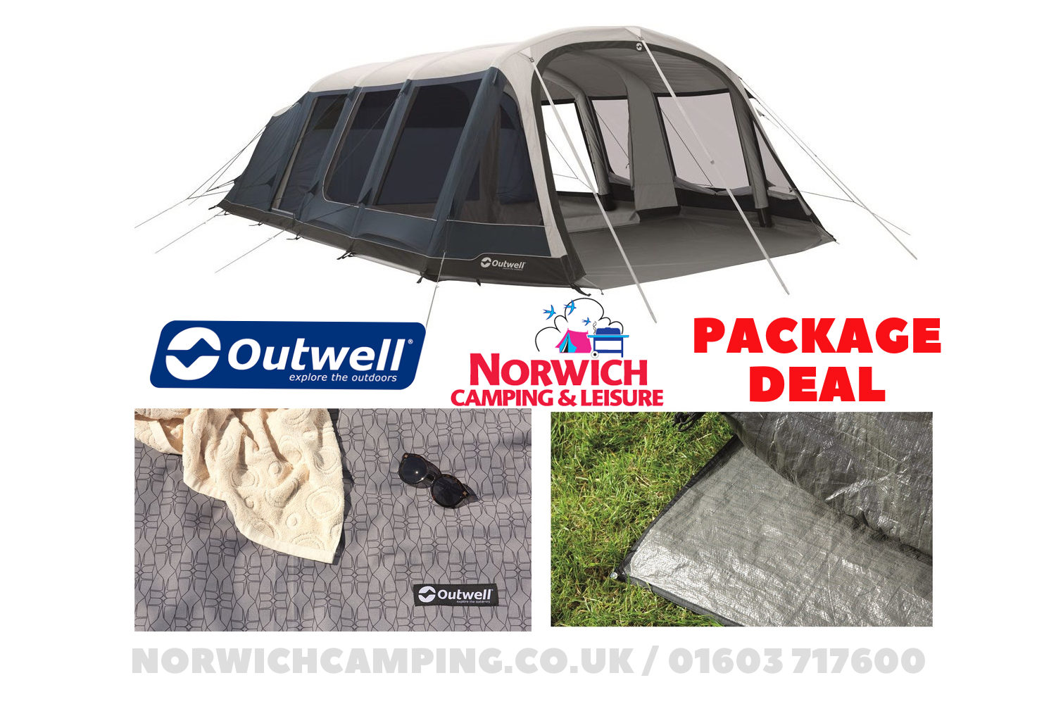 Outwell Stone Lake 7Atc Tent Package Deal