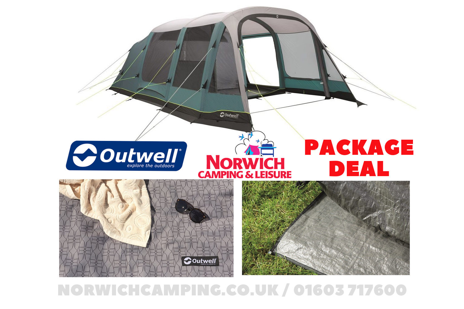 Outwell Parkdale 6Pa Tent Package Deal