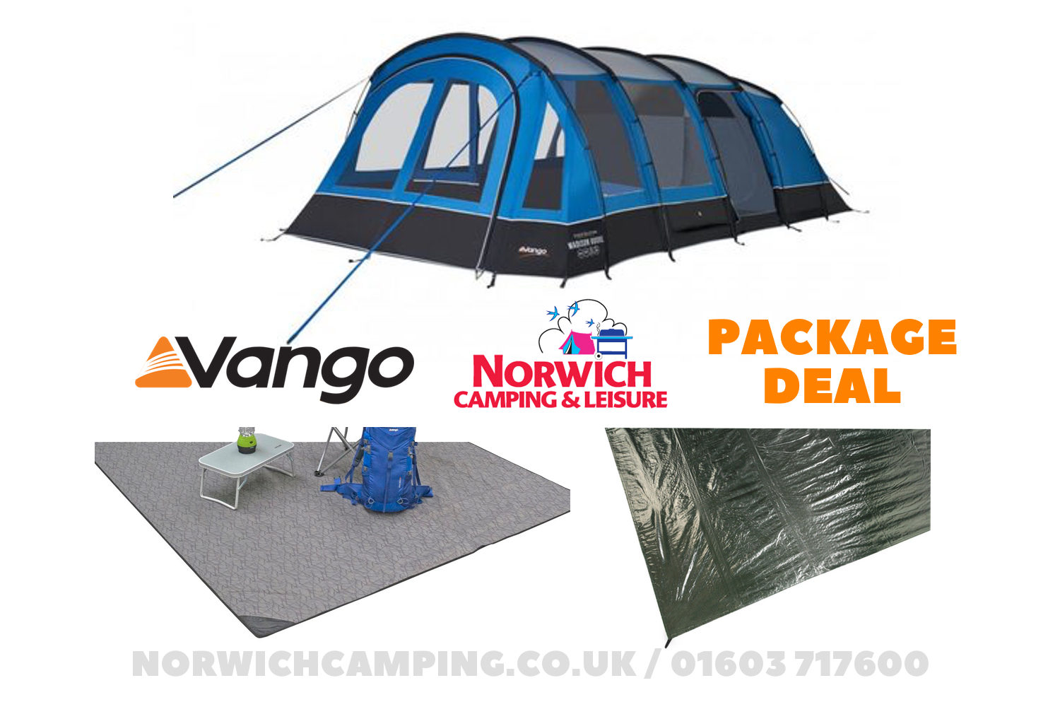 Vango Madison 600Xl Tent Package Deal