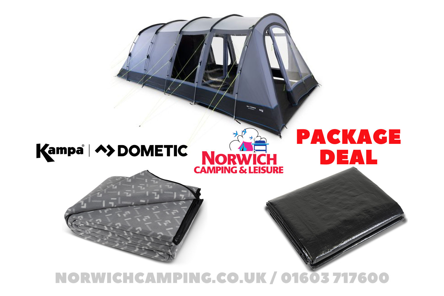Kampa Dometic Wittering 6 Poled Package Deal